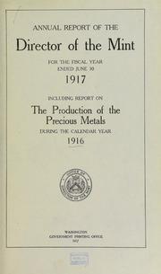 U.S. Mint Report (1917)