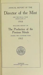 U.S. Mint Report (1918)