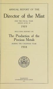 U.S. Mint Report (1919)