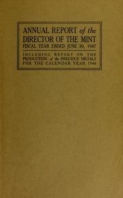 U.S. Mint Report (1947)