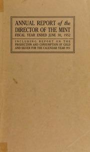 U.S. Mint Report (1952)
