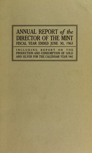 U.S. Mint Report (1963)