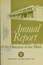 U.S. Mint Report (1968)