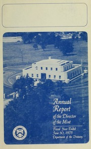 Annual Report of the Director of the Mint Fiscal Year Ended June 30, 1975