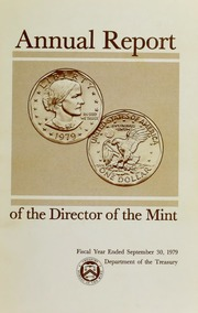 Annual Report of the Director of the Mint Fiscal Year Ended September 30, 1979
