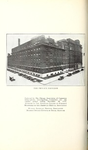 Vol 50: ... Annual report of the Presbyterian Hospital in the city of Chicago, with the constitution, by-laws and charter.