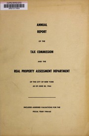 Annual report of the Tax Co...