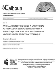 ANOMALY DETECTION USING A VARIATIONAL AUTOENCODER NEURAL