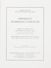 American Numismatic Society: Important Numismatic Literature (pg. 28)