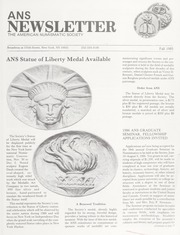 ANS Newsletter Fall 1985