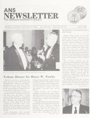ANS Newsletter Fall 1990