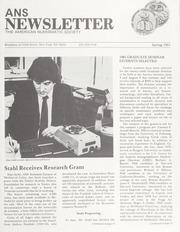 ANS Newsletter Spring 1981