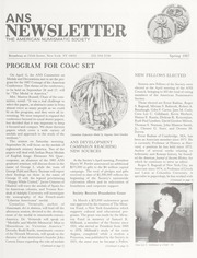 ANS Newsletter Spring 1987