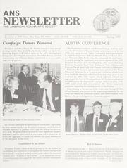 ANS Newsletter Spring 1989