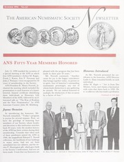 ANS Newsletter Summer 1994 No. 63