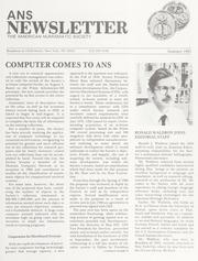 ANS Newsletter Summer 1981