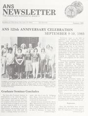 ANS Newsletter Summer 1983