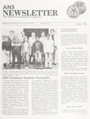 ANS Newsletter Summer 1985