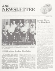 ANS Newsletter Summer 1990