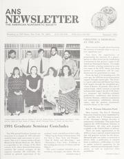 ANS Newsletter Summer 1991
