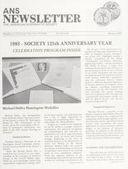 ANS Newsletter Winter 1983