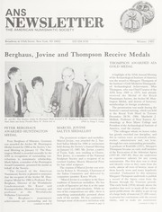 ANS Newsletter Winter 1985