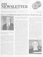ANS Newsletter Winter 1986