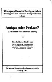Antiqua oder Fraktur: lateinische oder Deutsche Schrift