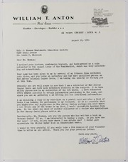 William F. Anton, Jr., Correspondence, File 1, 1961-1970