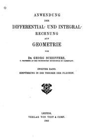 Anwendung der Differential- und Integralrechnung auf Geometrie
