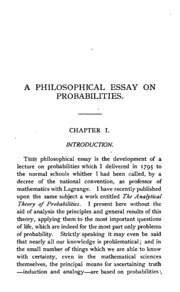 a philosophical essay on probabilities laplace pierre simon  a philosophical essay on probabilities