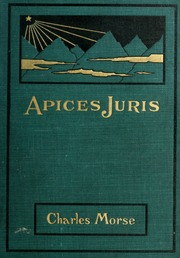 fundamental legal conceptions as applied in judicial reasoning  apices juris and other legal essays in prose and verse