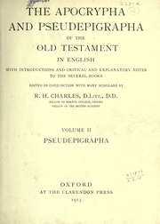 Image result for The apocrypha and pseudepigrapha of the old Testament in English