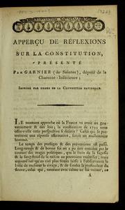 Apperçu de réflexions sur la Constitution