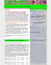 April 2009 incl. comments on why some coins are worth well over bid