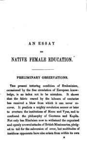 an essay in defence of the female sex in which are inserted the  a prize essay in native female education