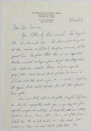 Herman M Aqua Correspondence, 1968