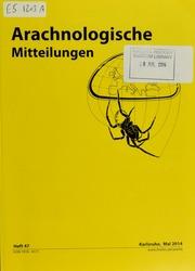 Vol Heft 472014:Mai: Arachnologische mitteilungen