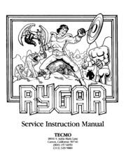 Arcade game manual rygar by tecmo free download streaming rygar service instruction manual sciox Images