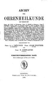 Vol 44: Archiv für Ohrenheilkunde