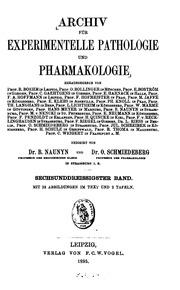 Archiv fuer experimentelle pathologie und pharmakologie