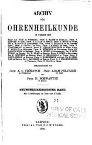 Vol 39: Archiv fuer ohrenheilkunde