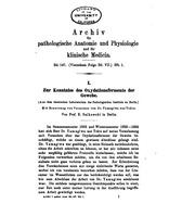 Vol 147: Archiv fuer pathologische anatomie und physiologie und klinische