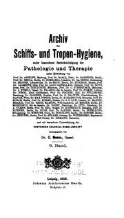 Vol 9: Archiv fuer schiffs-und tropen-hygiene