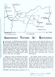 Armstrong's victory at Kittanning / [text by William A. Hunter ; edited by Donald H. Kent and William A. Hunter]. Second printing.