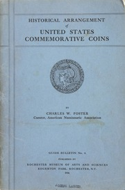 Historical Arrangement of United States Commemorative Coins