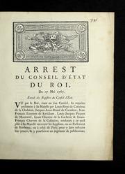 Arrest du Conseil d'état du roi, du 17 mai 1767