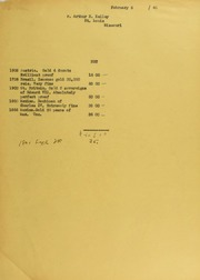 Arthur B. Kelley Invoices from B.G. Johnson, February 6, 1940, to December 17, 1940