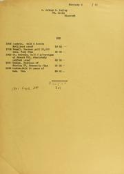 Arthur B. Kelley Invoices from B.G. Johnson, February 6, 1940, to December 17, 1940
