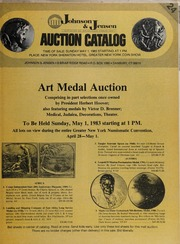 Art Medal Auction: Comprising in part selections once owned by President Herbert Hoover...